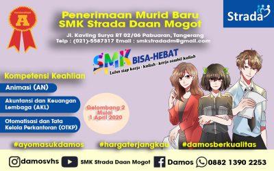 PENERIMAAN MURID BARU GELOMBANG 2 SMK STRADA DAAN MOGOT